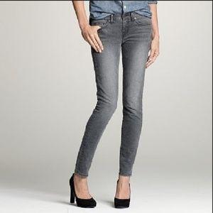 Grey J.crew vintage wash toothpick jeans